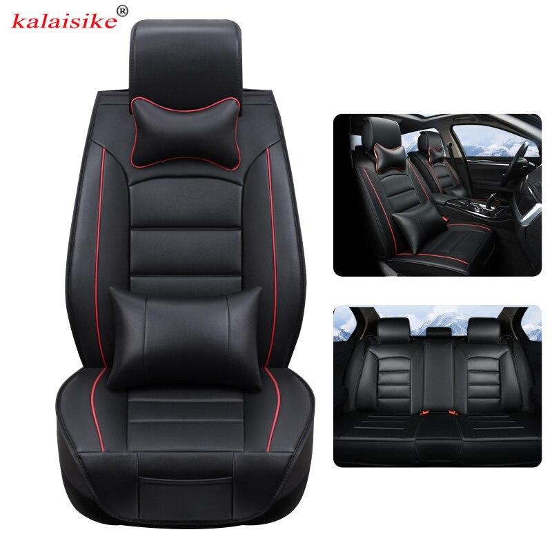 Housses de siège auto universelles en cuir kalaisike pour Volkswagen tous les modèles polo golf tiguan Passat jetta VW Phaeton touareg Phaeton