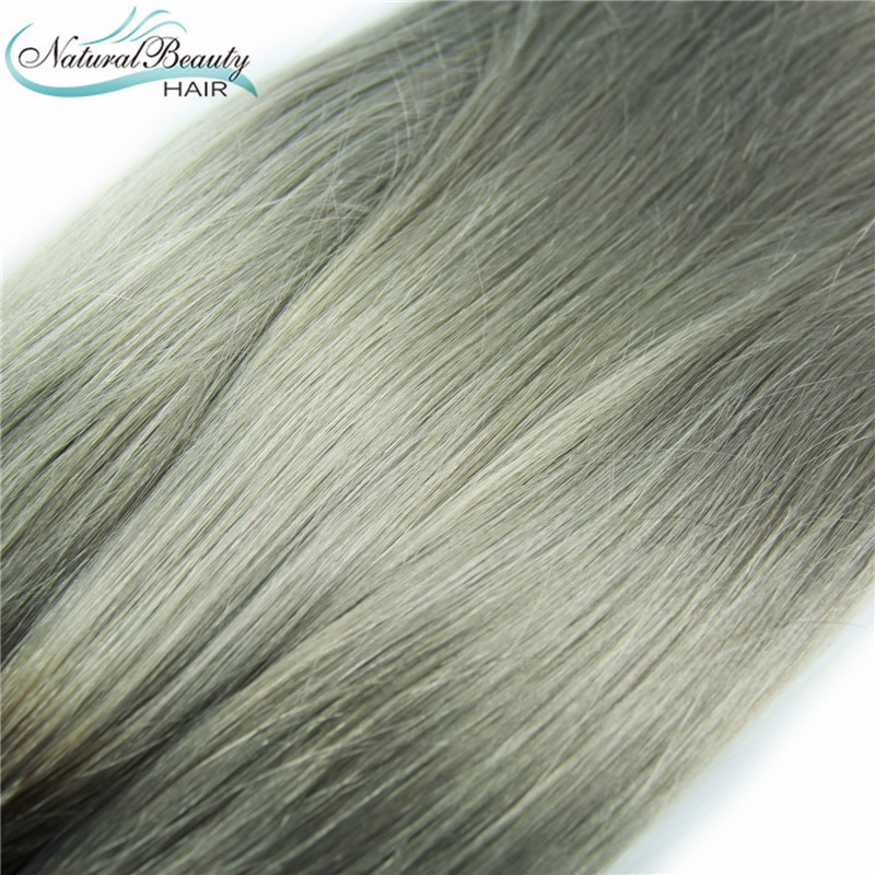 Hair extensions ombre grey hair color two tone human weave hair hair extensions ombre grey hair color two tone human weave hair platinum 1b grey virgin brazilian straight hair 2pc on sale in hair weaves from hair pmusecretfo Choice Image