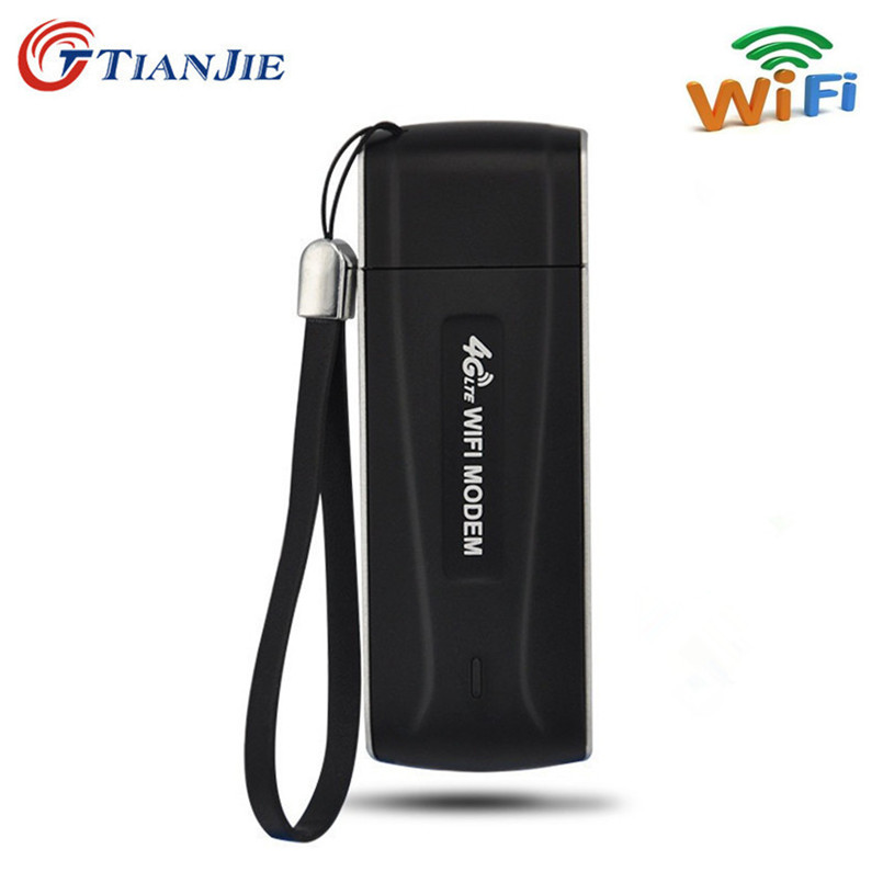 4G Wifi Modem USB 3G 4G Router Unlocked Broadband Stick Date Card Network Hotspot Wi-Fi Dongle Wireless Modem with SIM Card Slot