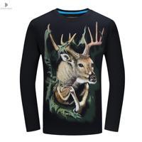 Zeeshant Muy Buen Modelo de Camiseta de Los Hombres/de Las Mujeres 3D Camiseta Divertida de Impresión Otoño Árbol de Navidad Ciervos Tops Tees Plus tamaño 6XL