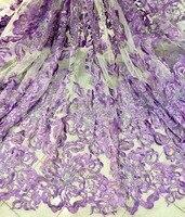 2017 patrón de flores de peonía/oro/rojo ciruela/azul/púrpura/añadir agua de perforación en línea vestido de noche de encaje ancho de la tela 5 yardas