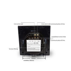 Image 3 - Manufacturer Wallpad EU Standard 1 Gang 2 Way 3 Way Control White Wall Light Touch Screen Switch Glass Panel, Free Shipping