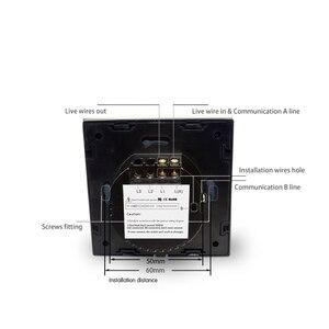 Image 3 - Wallpad Panel de vidrio de Interruptor táctil con pantalla táctil, Panel de Control de Vía Blanca, 1 entrada y 3 vías, estándar europeo, envío gratis