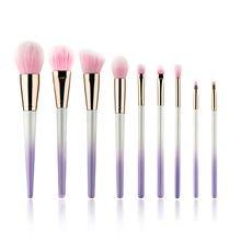 New Arrival 9pcs Makeup Brushes Set Gradient Purple Powder Eyeshadow Brush Professional Make Up Kit Tools