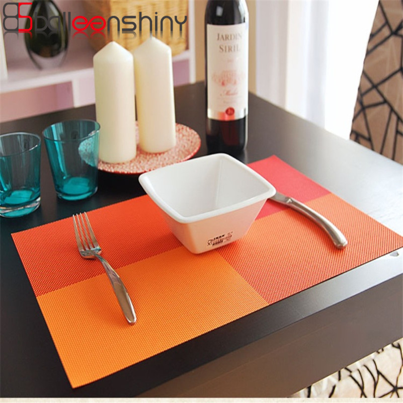 BalleenShiny Fashion PVC Dining Table Placemat Europe Style Kitchen Tool Tableware Pad Coaster Coffee Tea Place Mat 2017 Newest