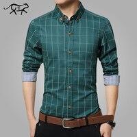 Новые весенние мужские рубашки с длинным рукавом Большие размеры M-5XL хлопковая клетчатая рубашка мужские повседневные модные мужские руба...