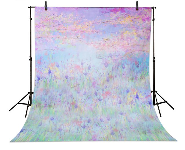 Bokeh purple lavender flowers forest garden photography background  Vinyl cloth Computer printed baby girl  backdrop dinosaur photography background high grade vinyl cloth computer printed newborn backdrop