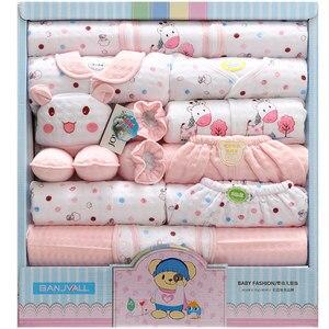 18 Piezas Conjunto de Bebé Recién Nacido Ropa de Niño 100% Algodón Traje de Bebé Niña Ropa Trajes Pantalones Ropa de Bebé Sombrero Babero Ropa de Bebe