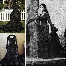 R-074 Викторианский готический/Civil War Southern Belle свободное бальное платье на Хэллоуин винтажные платья на заказ