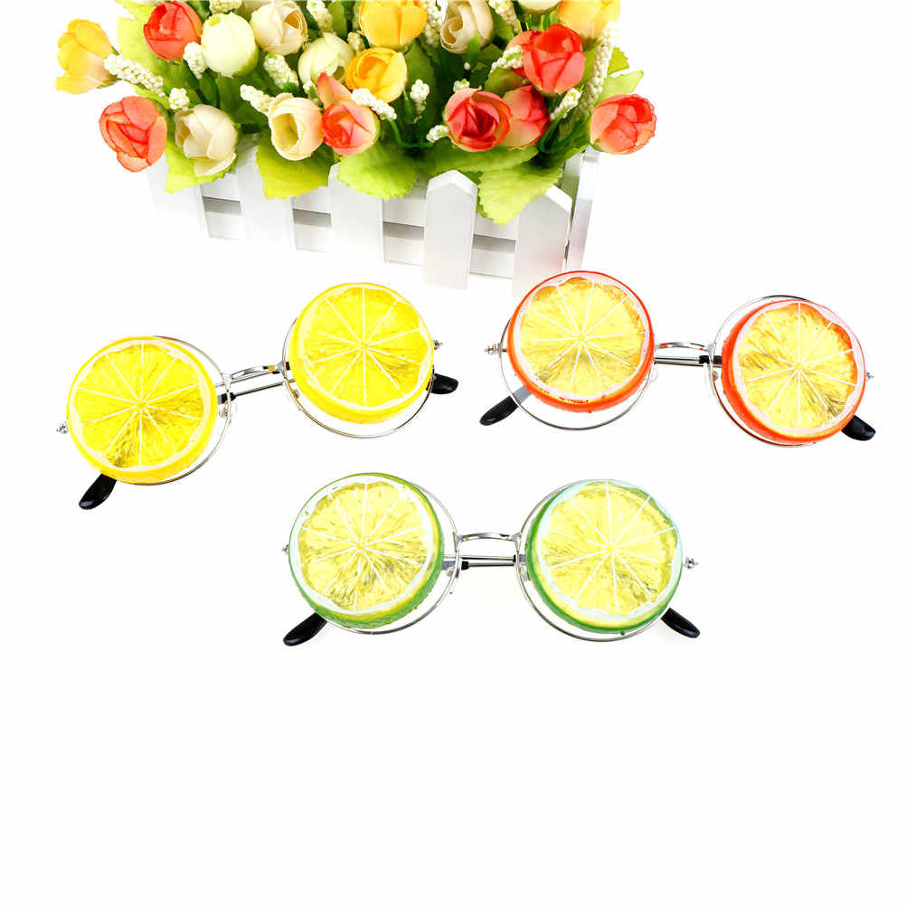 New Lemon Tropical Beach Party Miami Style Costumes Photobooth Props  Glitter Beach Glasses Event Party Supplies Decoration