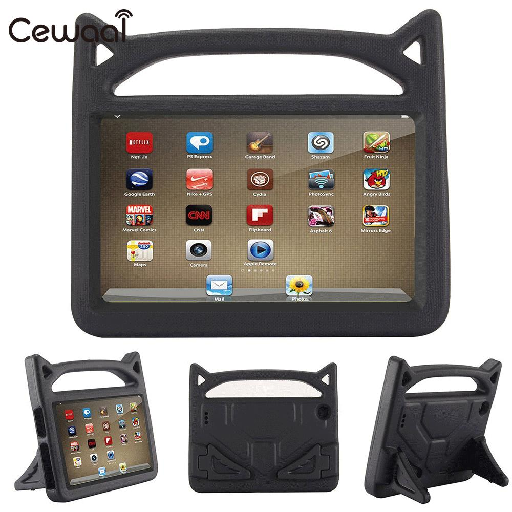 Cewaal Shockproof Case EVA Rubber For Amazon Kindle case Fire 7 Fire 2015/2017 7th Gen Kid Safe