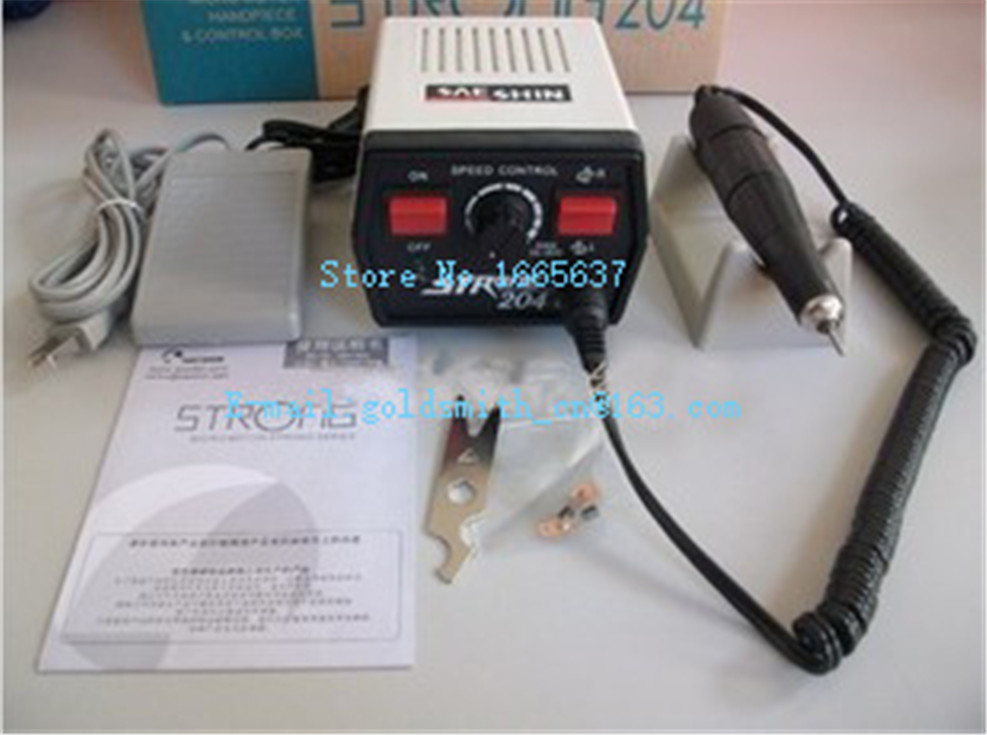 Free Shipping! New Dental Lab tool, SAESHIN 35000 RPM Strong 204 Handpiece, Jewelry Polishing Motor, Electric Micromotor