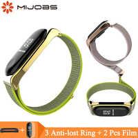 Mi jobs Nylon Handgelenk Gurt für Xiao mi mi band 3 4 Armband Ersatz Armband Smart Uhr Band für Xiao mi mi band 3 Zubehör