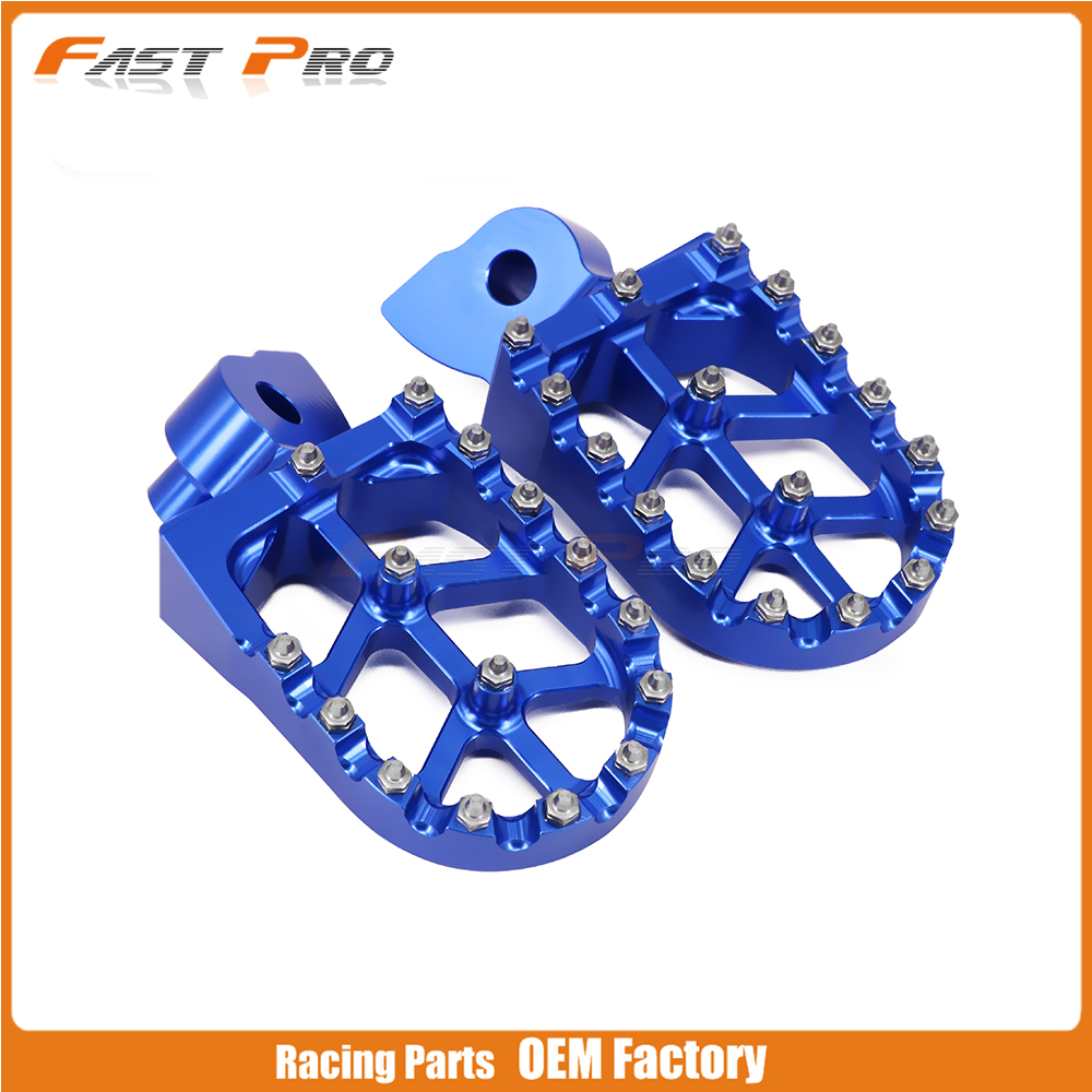 Billet CNC pedales para Husqvarna 50 125 250 300 350 400 450 510 CR SM SMR TC TE WR TXC 1999-2013 OFF ROAD