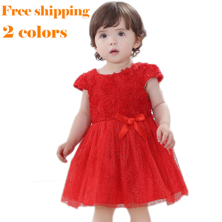 7b34fdeb6 2014 boutique birthday party princess dress summer winter baby girls red  white lace rose tulle tutu clothes 9 12 18 24 month