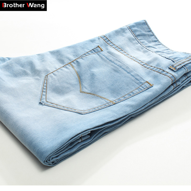 2017 Summer New Men S Jeans Comfortable Jeans Fashion Straight Thin Section Casual And Simple Denim Trousers Male In Jeans From Men S Clothing Accessories