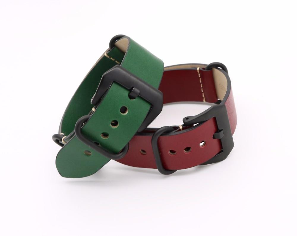 24mm Lumină maro închis Negru Verde Roșu VINTAGE Bandă ceas curea - Accesorii ceasuri - Fotografie 3