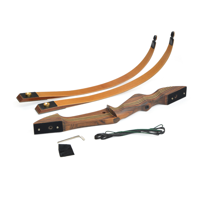 """Image 2 - 1set 60inch 20 55lbs Archery Takedown Recurve Bow American Hunting Bow Wooden 21"""" Handle Riser RH Shooting Hunting Accessories-in Bow & Arrow from Sports & Entertainment"""