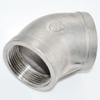 Brand New 45 Degree Elbow 2 Female Fitting 304 Stainless Steel Pipe Biodiesel NPT NEWHigh Quality