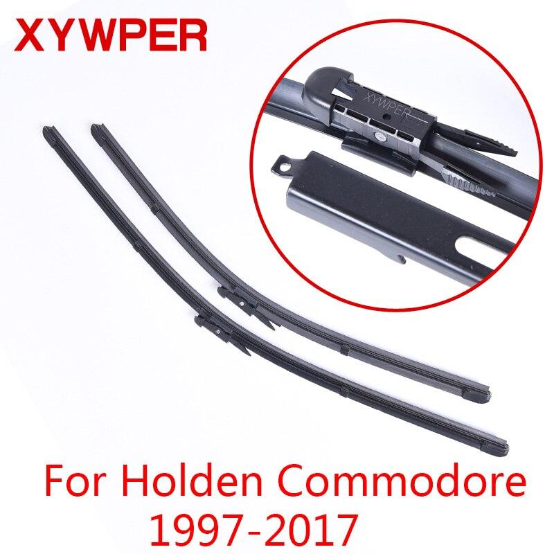 XYWPER стеклоочистителей для Holden Commodore VT VX. Ю. В. З. VE VF 1997 1998 1999 2000-2017Car аксессуары мягкие резиновые лобовое стекло стеклоочистители