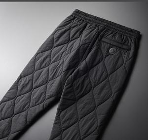 Image 3 - Minglu Inverno Pantaloni da Uomo di Lusso Aggiungere Imbottitura Spesso Tenere in Caldo Pantaloni Degli Uomini Più Il Formato 4xl Moda Elastico in Vita Degli Uomini di Autunno di Pantaloni