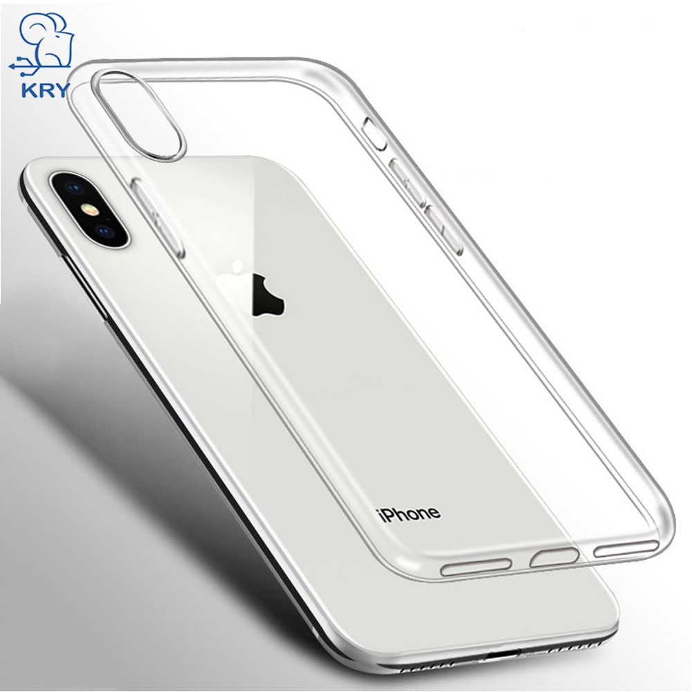 KRY Clear Phone Cases for iPhone 7 Case 7 8 Plus Capa For iPhone X Soft TPU Cover For iPhone 6 Case 6s Plus 5 5s SE Cases Coque
