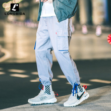 Multi-pocket Cargo Pants Men High Street Hip-hop Loose Casual Trousers For Male