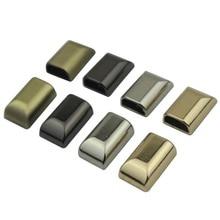 Золото серебро черный бронзовый сплав металла молнии внизу пробка молнии закрыты упора сумки сумка аксессуар 100 шт./лот