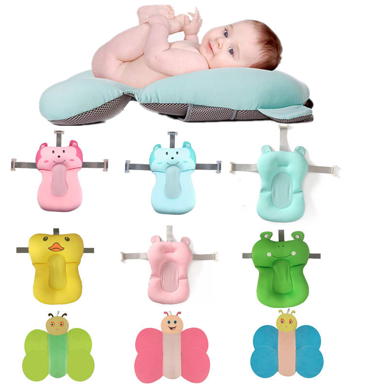 Animal Cartoon Baby Bath Seat Portable Infant Air Cushion Baby Bath Seat NewBorn Baby Bath Tub Support Baby Bath Accessories #TC