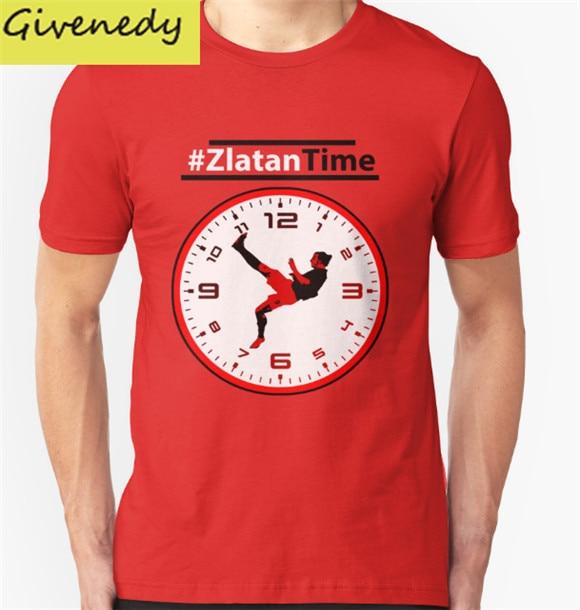 ZlatanTime Its Zlatan Ibrahimovic Time at font b Man b font Utd printed summer short sleeve