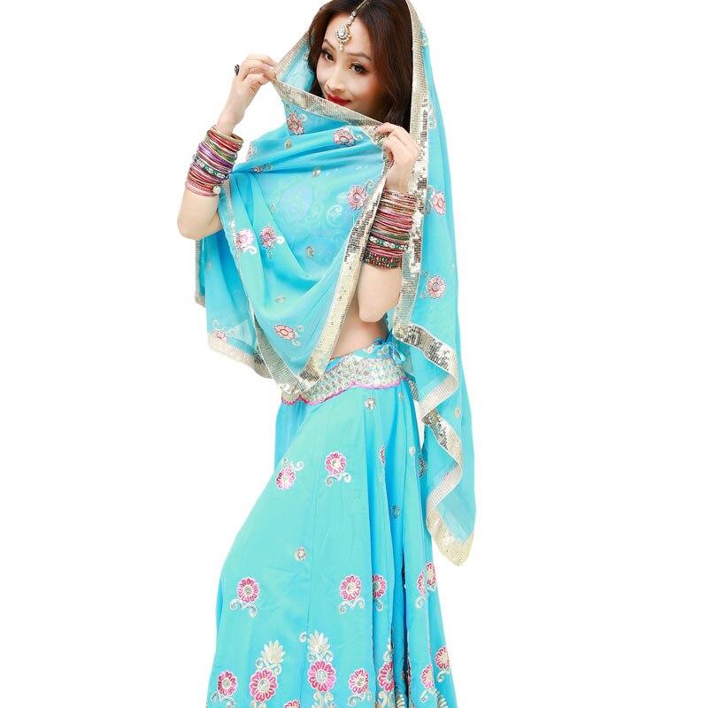 Inde Anna Indien Bollywood danse danse performance Sari voile robe robe top jupe pantalon pantalon costumes vêtements porter