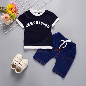 Newborn Orange Blue Clothing Sets For Kids 1