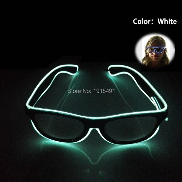 Schwarzen Linsen Kreative EL Draht Neon Leuchten Weiß Gläser Neuheit ...