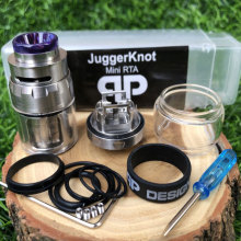 RTA Atomizer QP Mini Juggerknot Style 24mm Rebuildable Vape Tank Top Airflow Coil Design Dual/Single Coil for 510 eCigarette mod original geekvape ammit dual coil rta tank 3ml 6ml atomizer support both dual and single coil