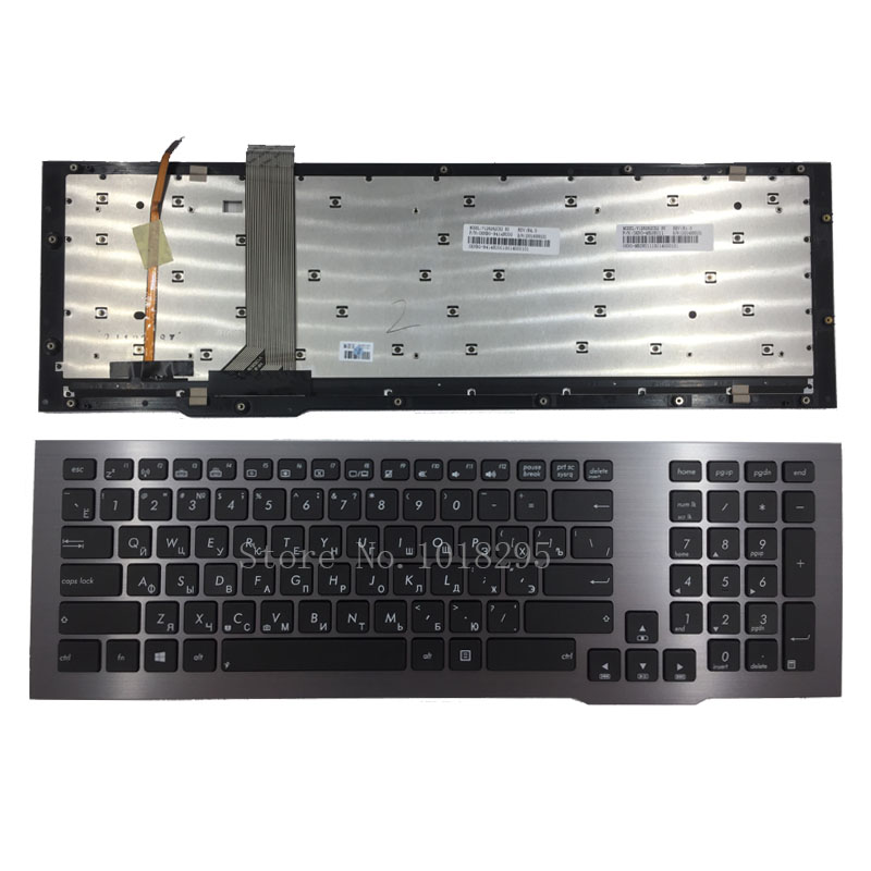 New Russian Keyboard For ASUS G75 G75VW G75VX Laptop RU layout With Frame With Backlit new and original black ru laptop keyboard with frame for metabox p170sm ru layout
