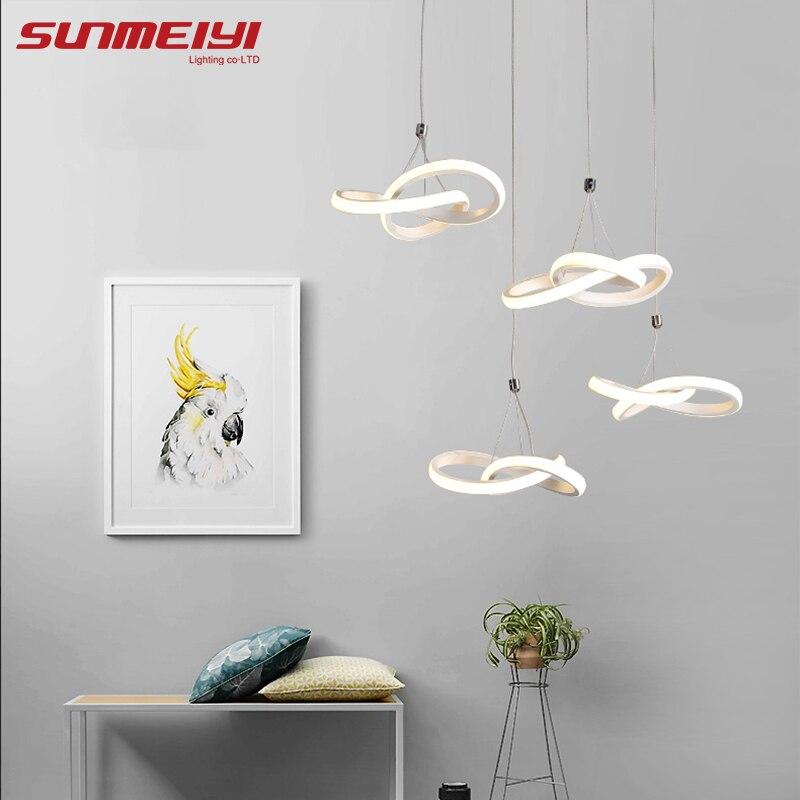 Modern Acrylic led lamp Pendant Lights Loft Decor For Kitchen Dining room Ceiling Hanglamp lustres para sala Pendant Lighting стоимость