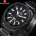 NAVIFORCE brand men sport watches 30M waterproof quartz watches men's stainless steel band auto date wristwatches reloj hombre