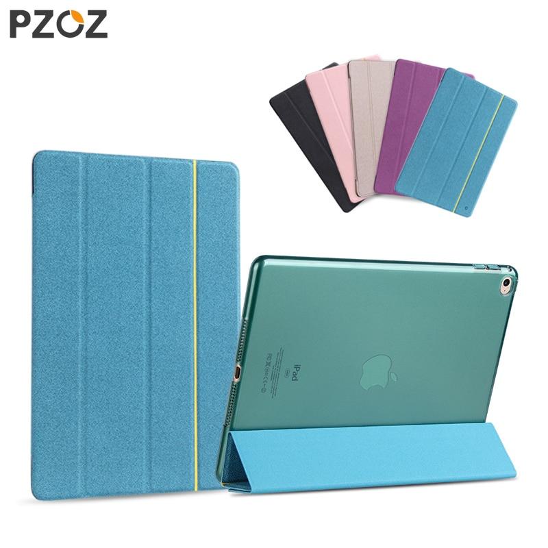 PZOZ Luxury leather Case For ipad air 2 ipad mini 1 2 3 Stand Cover smart Auto Sleep Ultra Slim Folding Folio Holder case 9.7 2 folding luxury folio stand leather