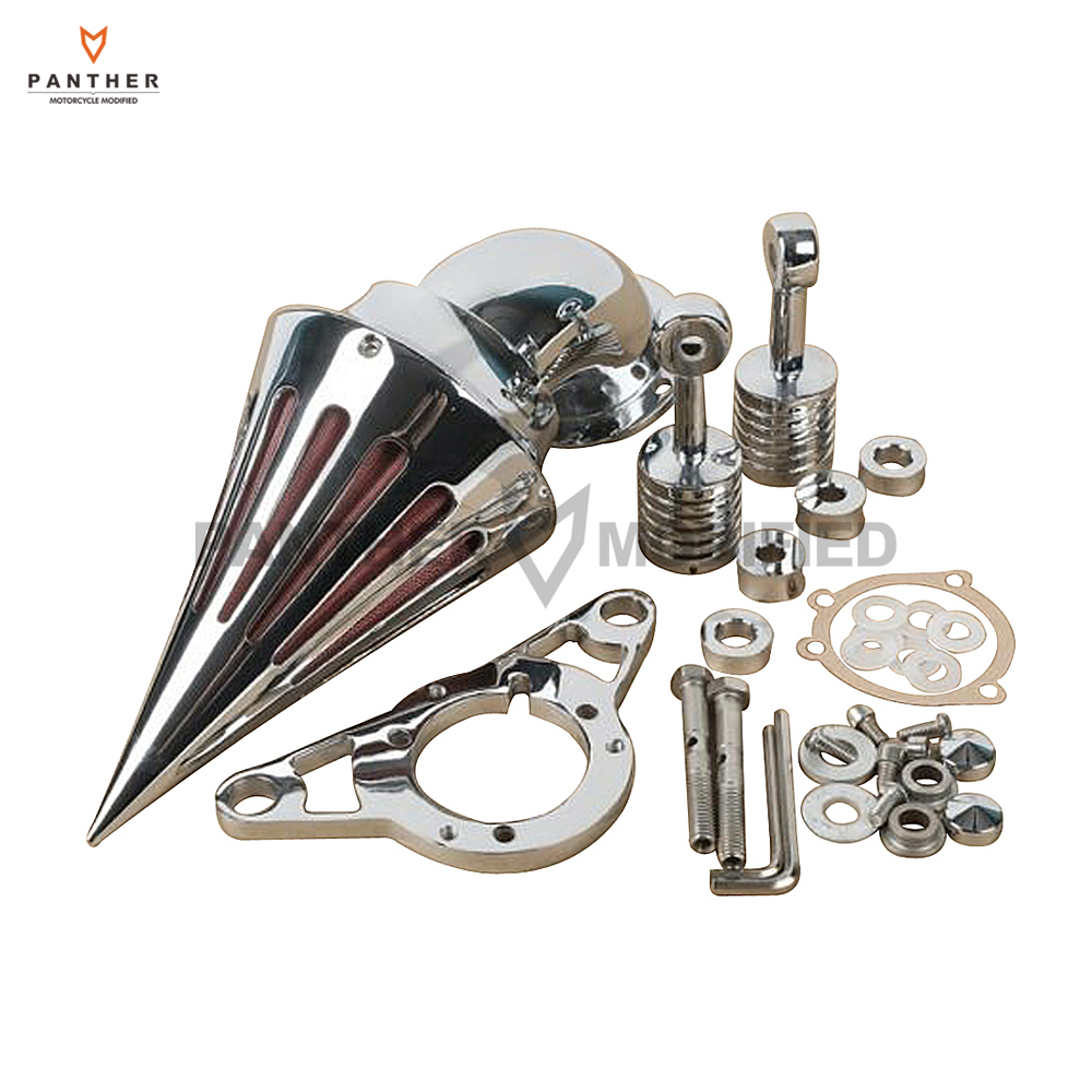 Chrome Motorcycle Spike Air Cleaner Filter case for Harley Softail Rocker Cross Bones 2008 2009 Touring Softail Dyna 2004-2007 chrome motorcycle spike air cleaner filter case for harley softail rocker cross bones 2008 2009 touring softail dyna 2004 2007