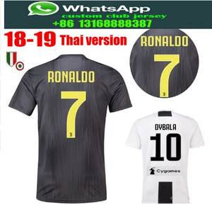 best quality Serie A patch Home Juventuses jersey RONALDO DYBALA 2018 2019  HIGUAIN soccer jersey football shirt size S-2XL 67d2fa53c
