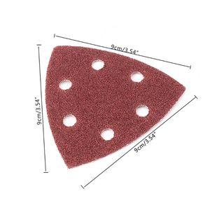 Image 5 - 20 قطعة الثلاثي الرملي ورقة حصى 40 240 مثلث 90 مللي متر 3.54 بوصة ذاتية اللصق الصنفرة تلميع الرملي أدوات القرص جلخ