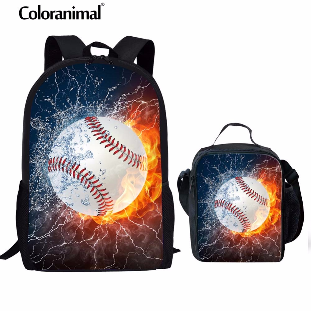 Lights & Lighting Coloranimal Baseballly Teen Girl Boy Mochila Infantil Primary Student Schoolbag 3d Ball Print Men Laptop Backpack Kids Satchel
