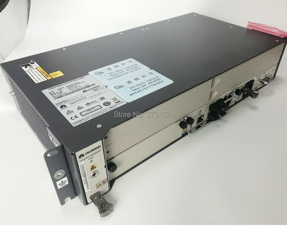 huawei olt ma5608t 16ports Opitcal Line Terminal Gpon/EPON OLT Device Chassis + 1*MCUD + 1*MPWC without service board.-in Fiber Optic Equipments from Cellphones & Telecommunications