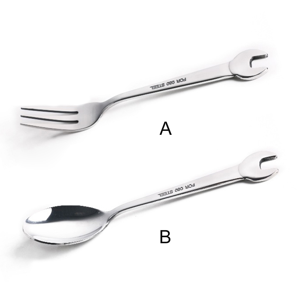 PROKTH 1Pc Home Use Wrench Stainless Steel Fork Spoon Outdoor Travel ...