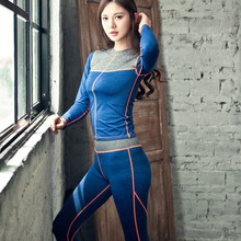 Women Tops + pants Yoga Sets Fitness Clothing Sport Suit For Female Women's Gym Panties Pilates Running Slim Leggings + Shirts