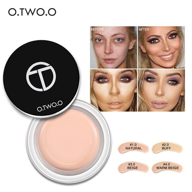 O. dos. O 4 colores Face Concealer maquillaje crema primer aceite-control Wrinkle Cover Pores Concealer Foundation Concealer maquillaje TSLM2