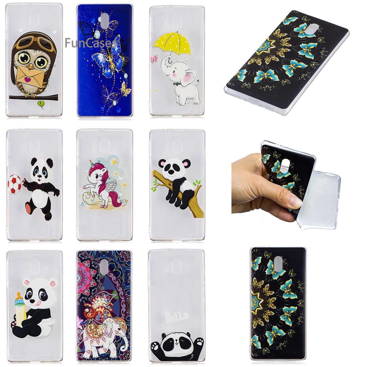 finest selection 08745 37f99 Cute Unicorn Phone Case sFor Cellular Nokia 3 Soft Silicone Back Cover  Carcasa Matte Bumper Case For Nokia 3 Phomne Hoesjes Tok