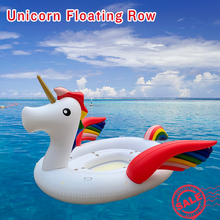 JIAINF Colorful Unicorn Pool Float PVC Giant Inflatable Swimming Island Party Floating Boat for 4-Persons