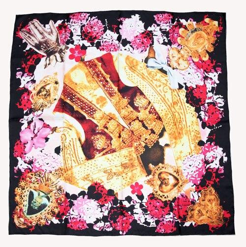 ELEGANT HANDMADE BRAND 100%Twill Silk Scarf TWIC-309433