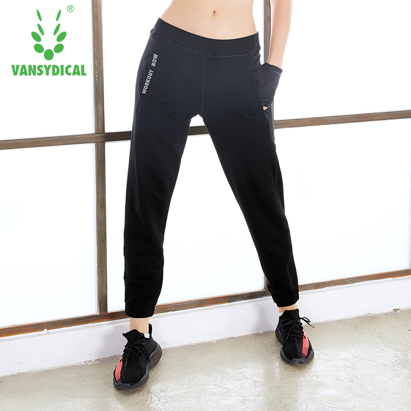 Vansydical Running Pants Mid Elastic Waist Beam Foot Trousers Keep Warmth Breathable Ankle Banded Pants Lesuire Jorgan Bottoms